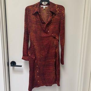 COPY - Stretchy silk DVF dress size 6